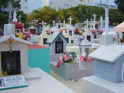 Mexican Cemetery in Isla Mujeres