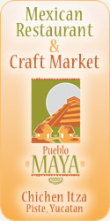 Pueblo Maya - Mexican Restaurant &amp; Craft Market, Chichen Itza, Piste, Yucatan